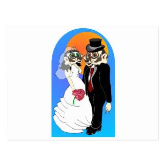Badger Wedding Postcard