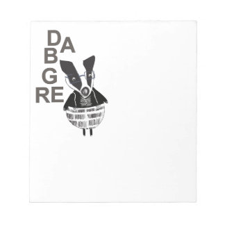 Badger Woodland Creature Notepad