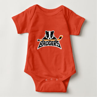 Badgers Hockey Logo Baby Bodysuit