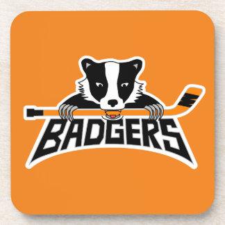 Badgers Hockey Logo Coaster