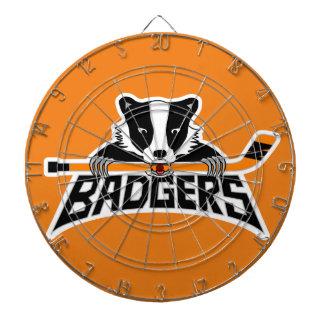 Badgers Hockey Logo Dartboard
