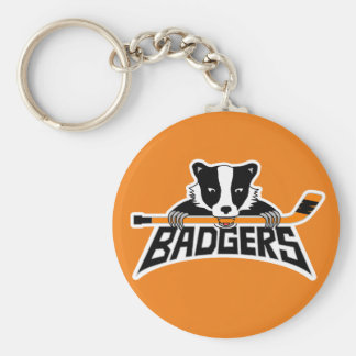 Badgers Hockey Logo Key Ring