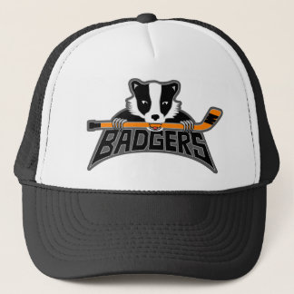 Badgers Hockey Logo Trucker Hat