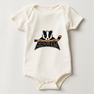 Badgers Logo - Dark Outline Baby Bodysuit