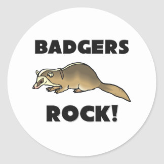 Badgers Rock Classic Round Sticker