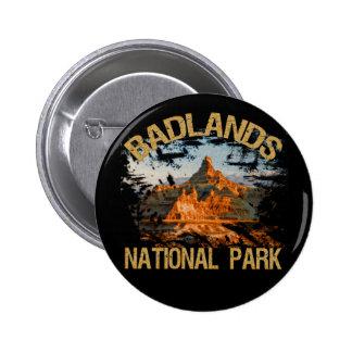 Badlands National Park 6 Cm Round Badge