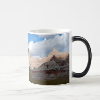 badlands national park scene deep blue cloudy sky magic mug