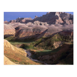 Badlands national park scenery view from afar postcard