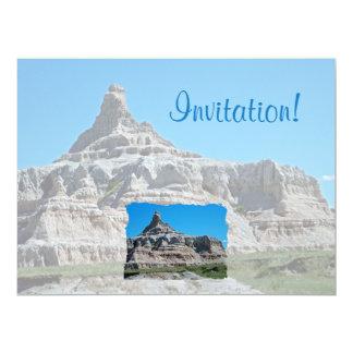 Badlands National Park, South Dakota 17 Cm X 22 Cm Invitation Card