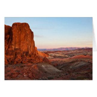 Badlands Sundown Greeting Card