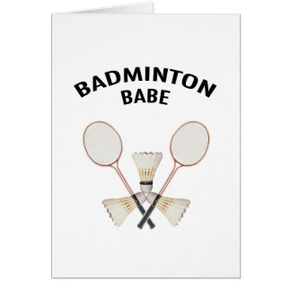 Badminton Babe Card