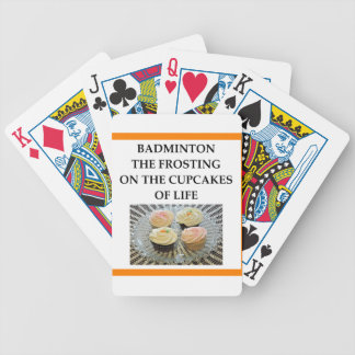 badminton bicycle playing cards