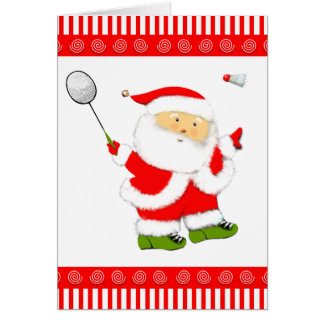 badminton Christmas holiday cards