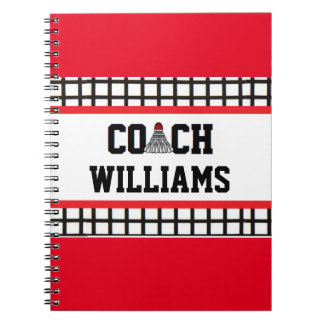 Badminton Coach - Personalized Spiral Notebook