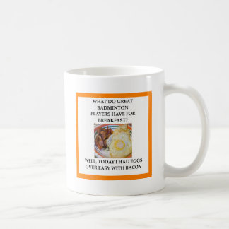 BADMINTON COFFEE MUG