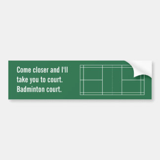 Badminton Court Bumper Sticker