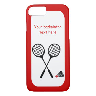 Badminton gifts, racquet and shuttlecock custom iPhone 8/7 case