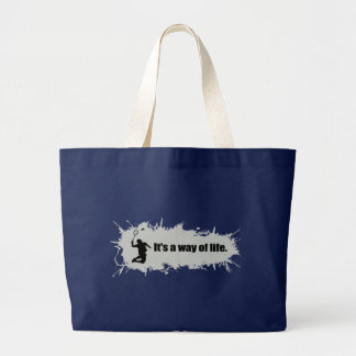 Badminton Is a Way of Life Large Tote Bag