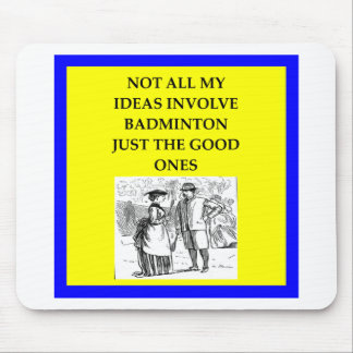 badminton mouse pad