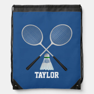 Badminton Name Customize Drawstring Bag