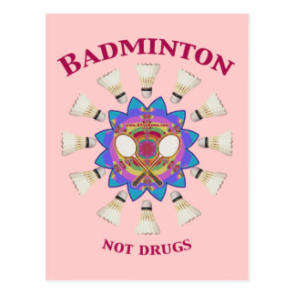 Badminton Not Drugs Postcard