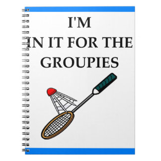 badminton notebook