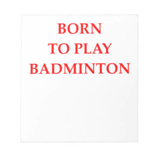 BADMINTON NOTEPAD