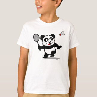 Badminton Panda (light shirts) T-Shirt