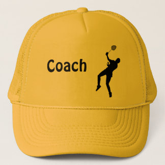 Badminton player trucker hat