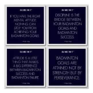 Badminton Quotes for Motivation: Success Poster