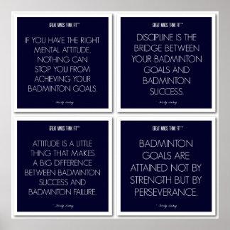 Badminton Quotes for Motivation: Success Poster