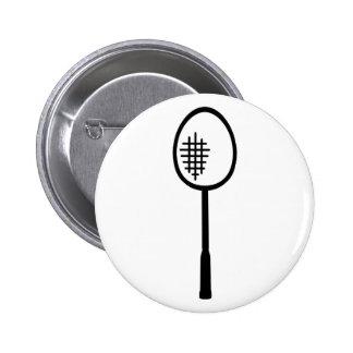 Badminton racket 6 cm round badge