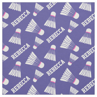 Badminton shuttlecock girls name pattern fabric