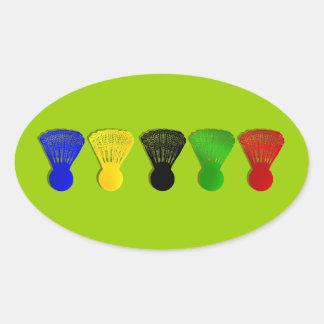 badminton shuttlecock  sports oval sticker