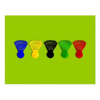 badminton shuttlecock  sports postcard