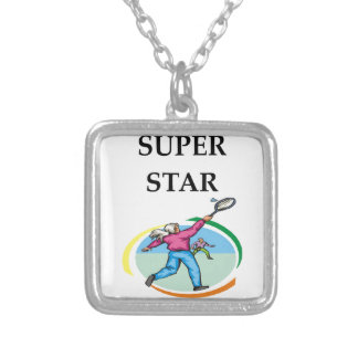 badminton silver plated necklace