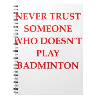 BADMINTON SPIRAL NOTEBOOK