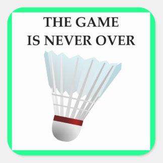 badminton square sticker