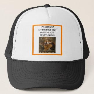 badminton trucker hat