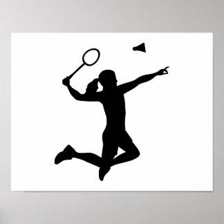 Badminton woman girl poster