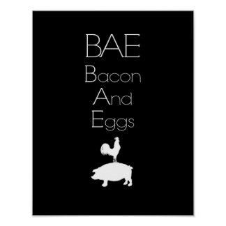 BAE 0 Bacon and Eggs Kitchen Poster