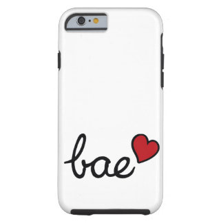 Bae baby love text & red heart tough iPhone 6 case