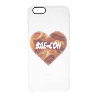 BAE-CON - For Bacon Lovers Everywhere Clear iPhone 6/6S Case