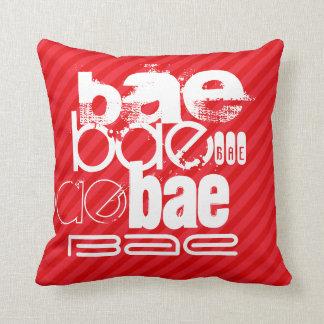Bae; Scarlet Red Stripes Cushion