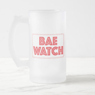 Bae watch funny bay watch movie reference frosted glass beer mug