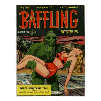 Baffling Mysteries Comic Book Poster