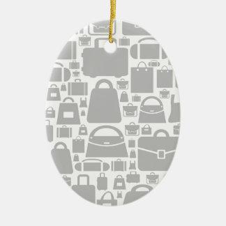 Bag a background ceramic oval decoration
