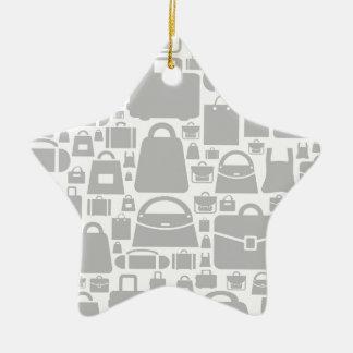 Bag a background ceramic star decoration