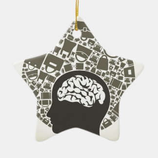 Bag a head2 ceramic star decoration