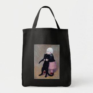 Bag:  A Small Girl with A Cat - Theophile Steinlen Tote Bag